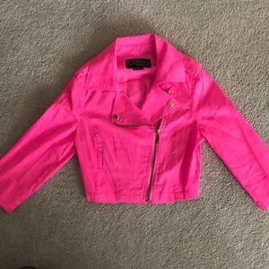 Electric pink cropped jacket